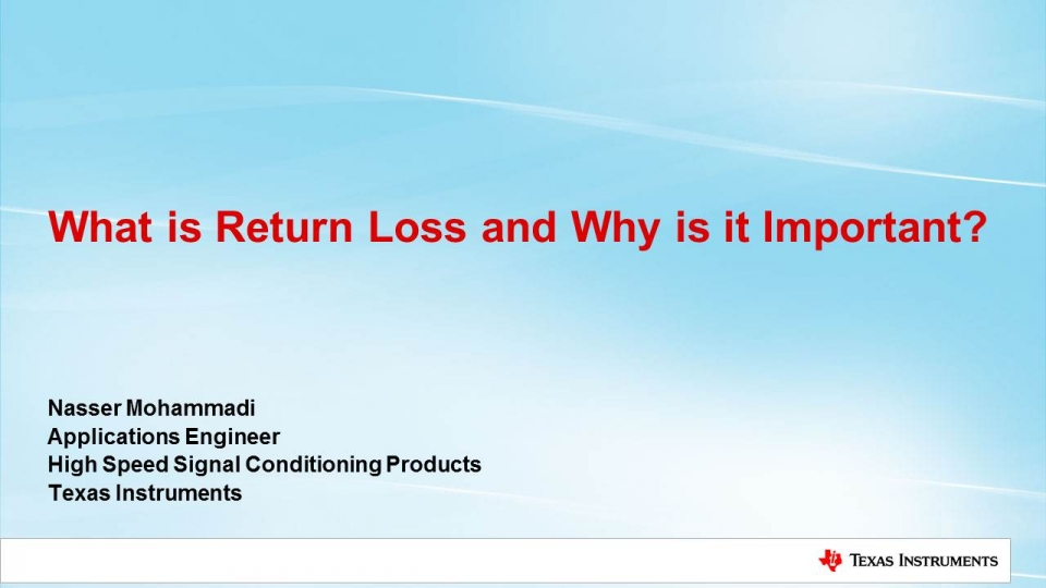 return loss and impact on SDI signal integrity