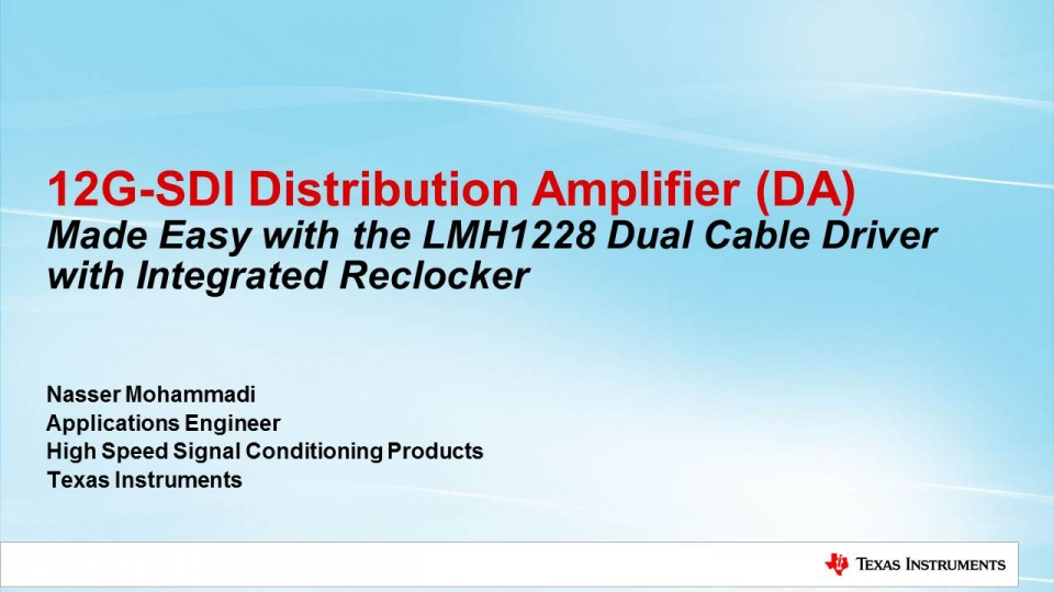 LMH1228 SDI distribution amplifier
