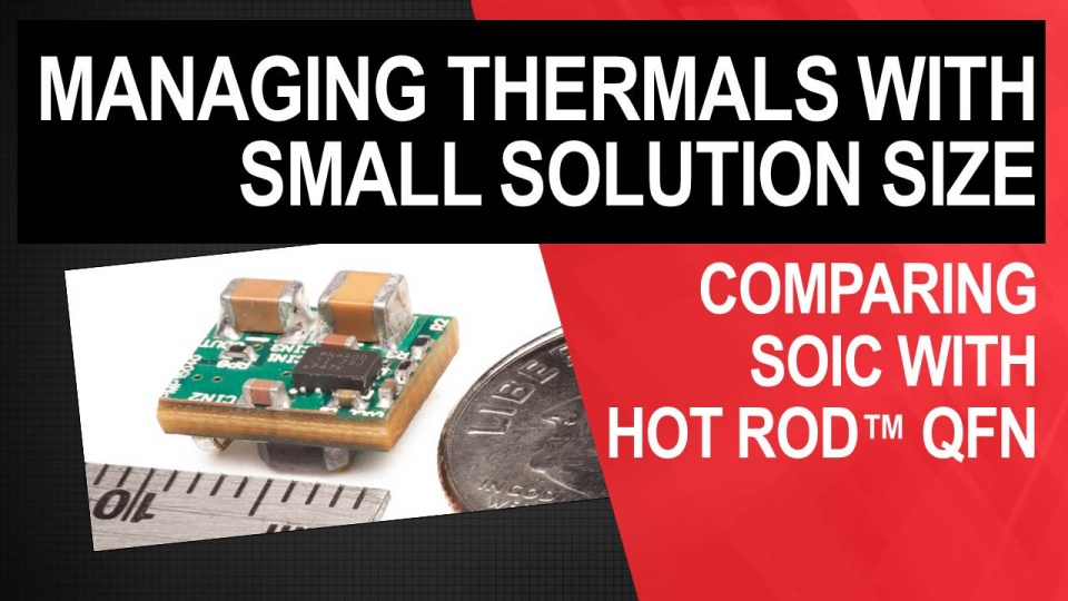 Thermal management with small solution size