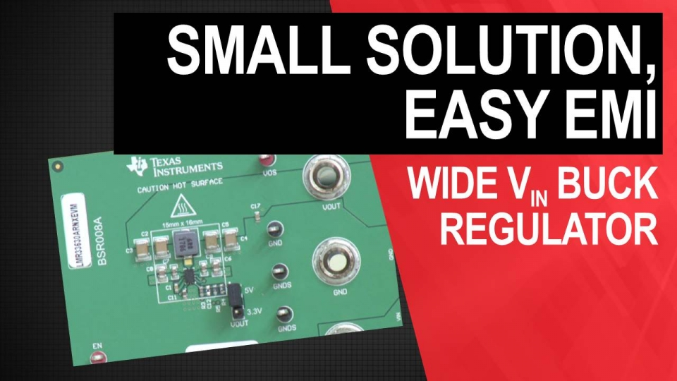 Shrink solution size and reduce EMI with LMR33630