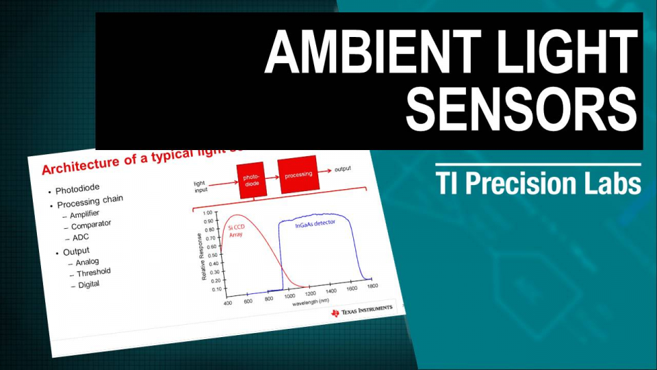 Ambient Light Sensors TI Precision Labs