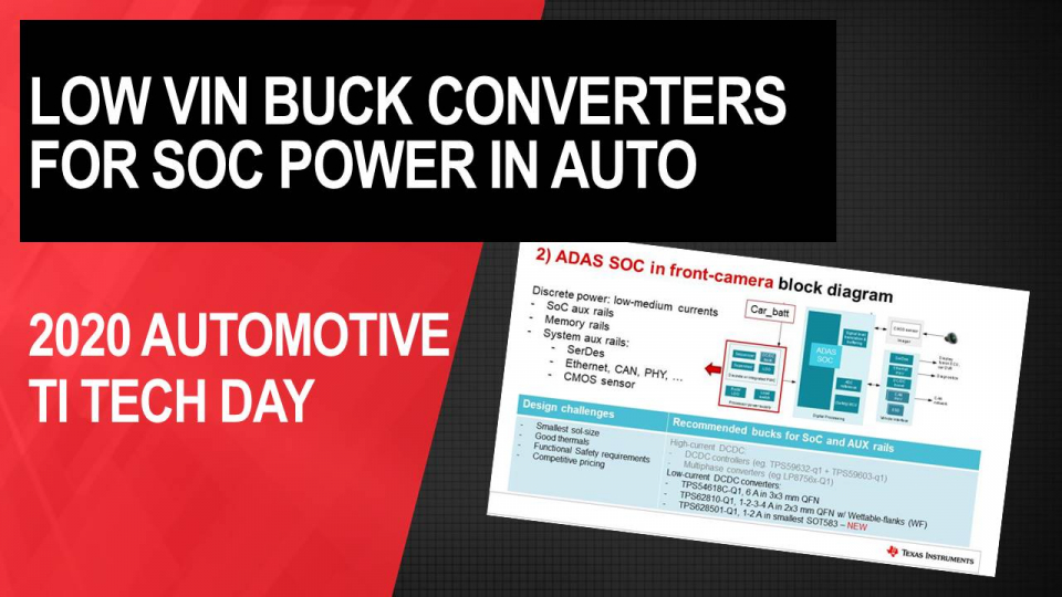 Low VIN Buck converters for SOC power: New Trends, System Design Challenges and Solutions