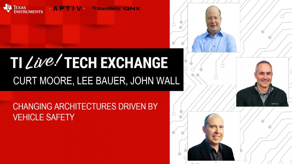 Changing architectures driven by vehicle safety