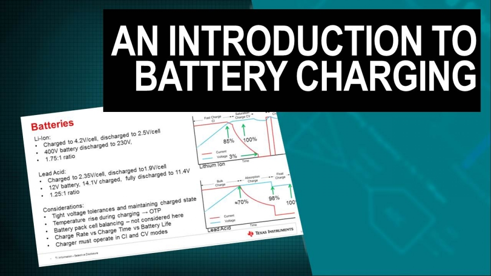 Introduction to battery charging fore electric vehicles
