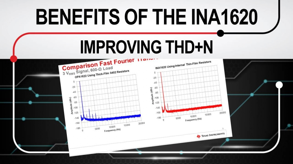Benefits of the INA1620: Improving THD+N