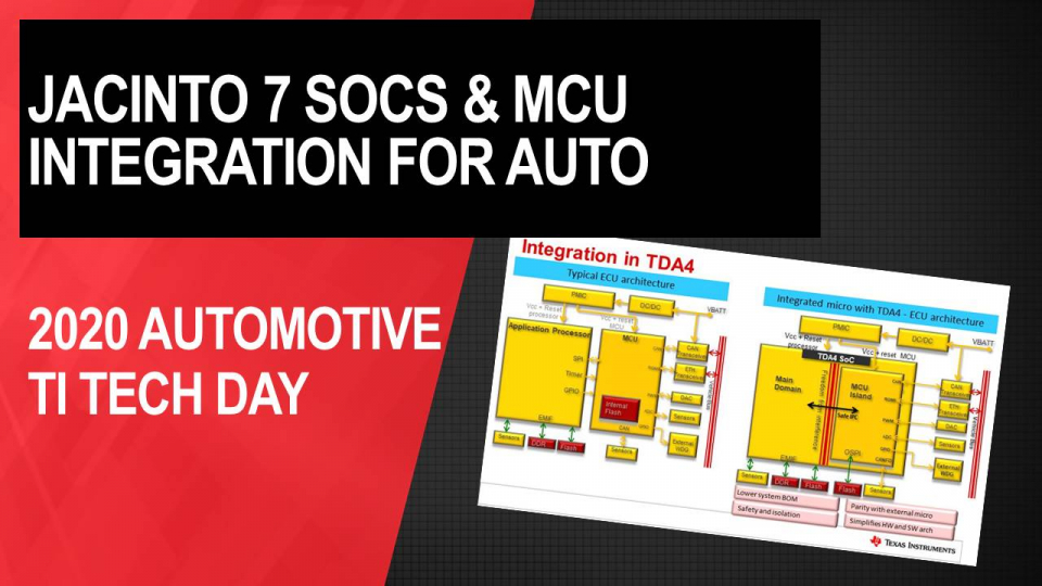 Optimizing your automotive system with Jacinto™ 7 SoCs and MCU integration