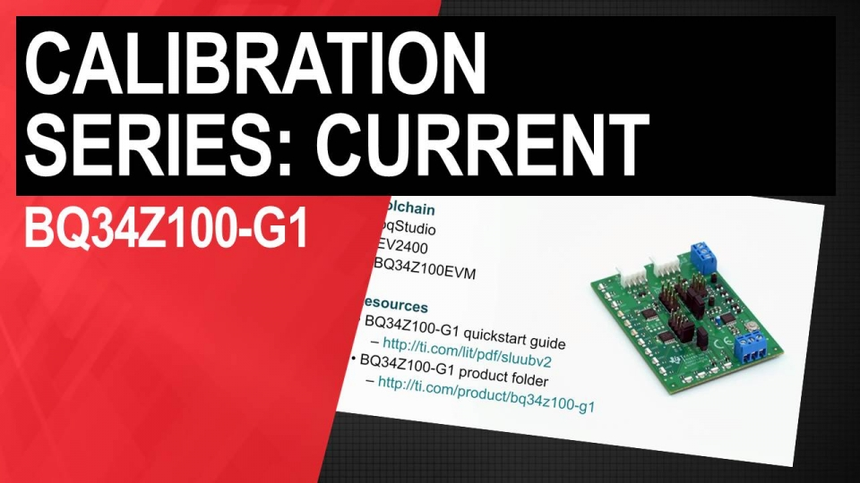 BQ34Z100-G1 current calibration video