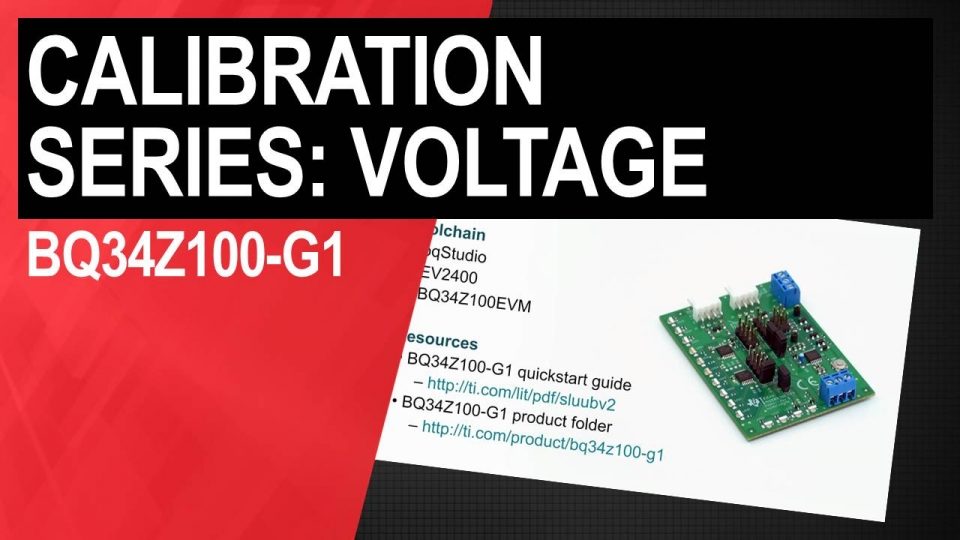 bq34z100-g1 voltage calibration video