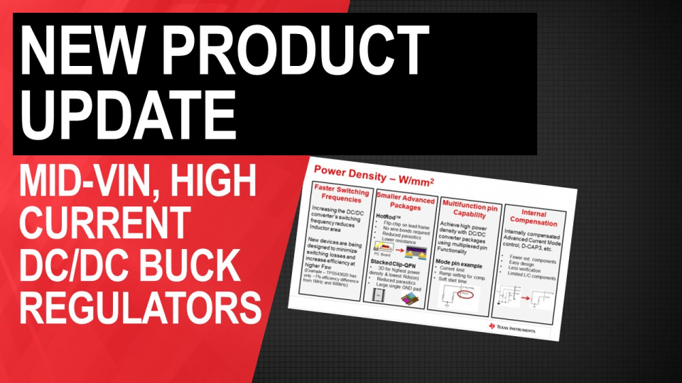 new product update buck regulators