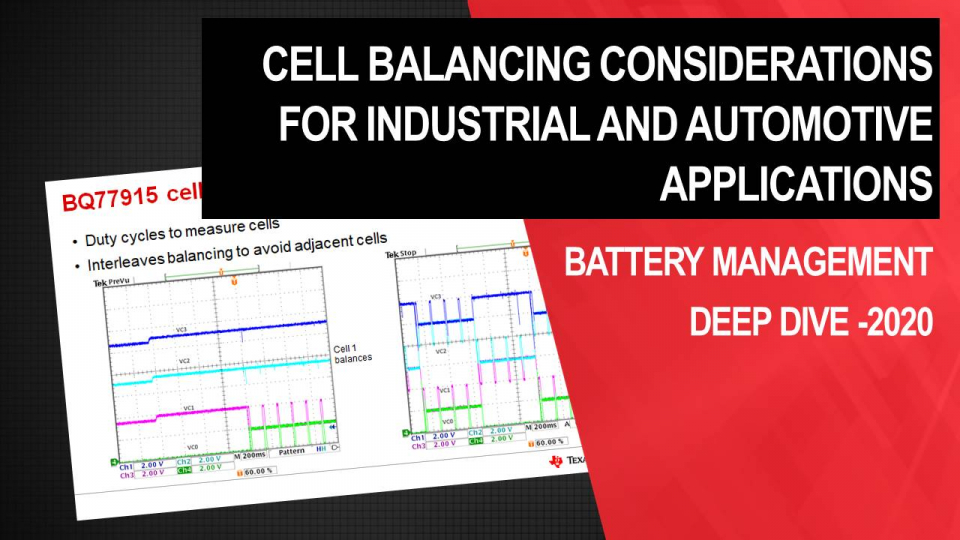 Cell balancing considerations for industrial and automotive applications