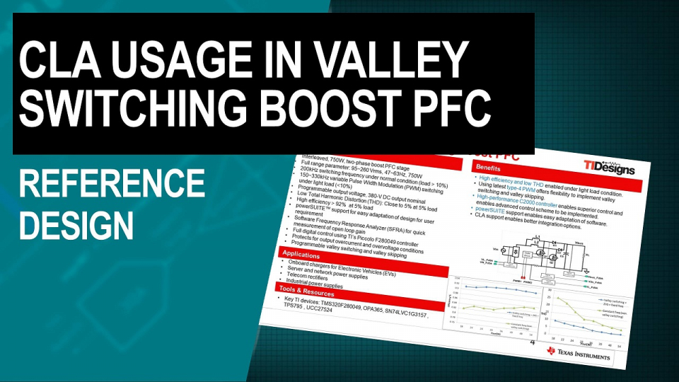 CLA Usage in Valley SwitchingBoost Power Factor Correction (PFC) Reference Design