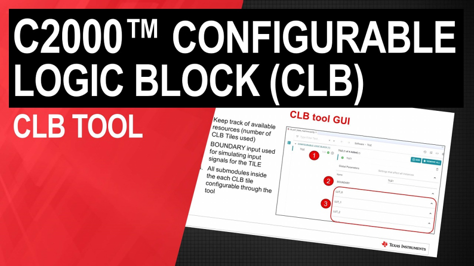 C2000 Configurable Logic Block (CLB) programming tool