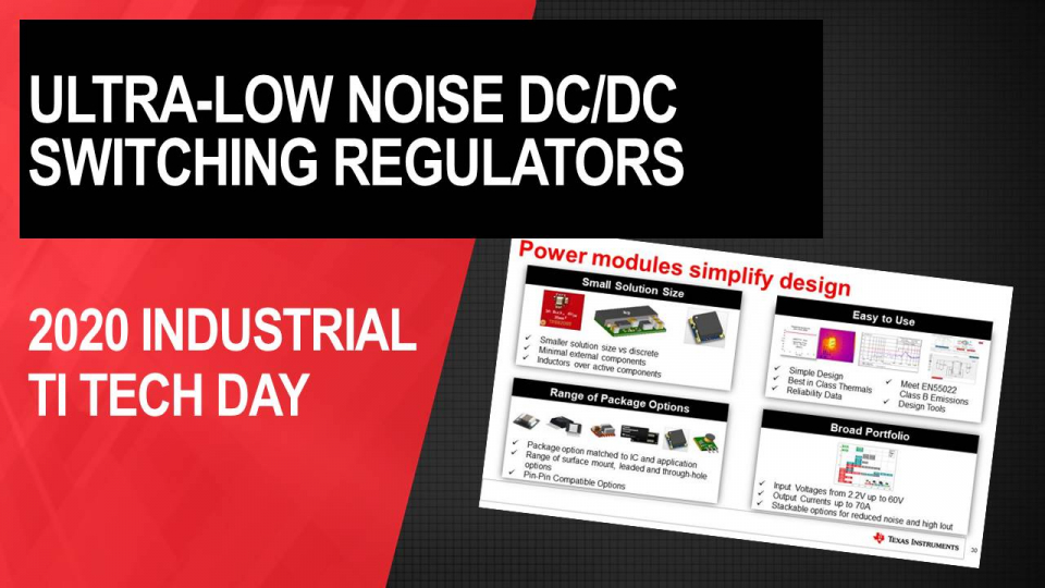Achieving ultra-low output noise with DC/DC switching regulators