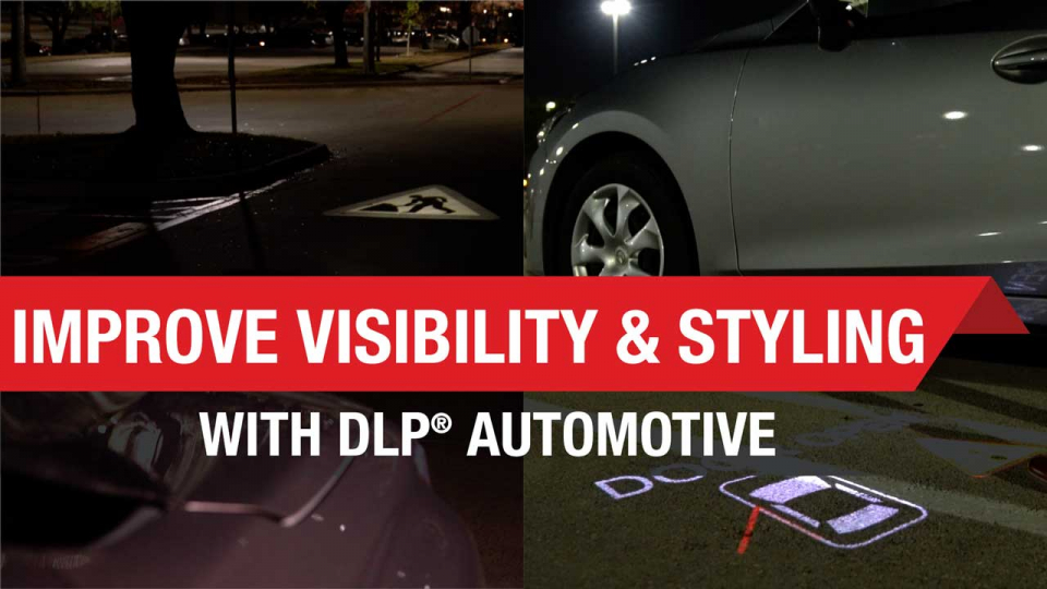 dlp, dlp auto, dlp headlight, headlamp, headlight symbol projection, headlamp symbol projection, adaptive beam driving, high resolution headlight, high resolution headlamp, dynamic ground projection, DGP, V2X communication