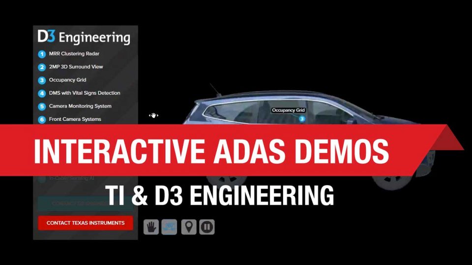 Interactive ADAS demo with TI and D3 Engineering