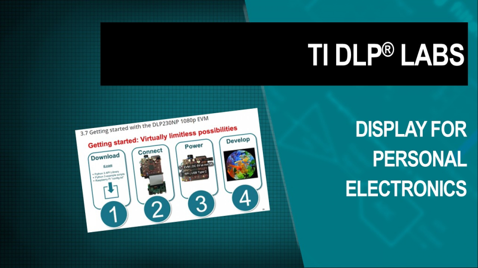 TI DLP Technology display for personal electronics