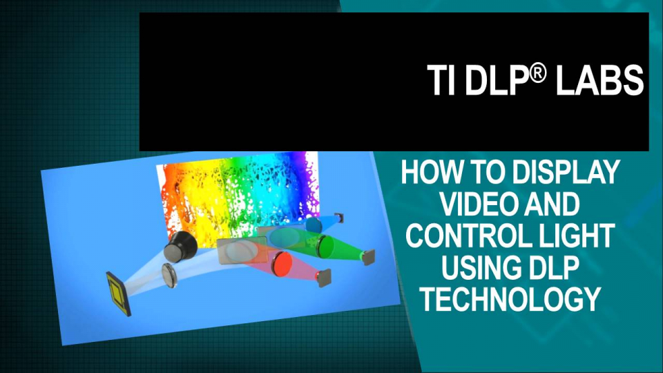 How to display video and control light using DLP technology