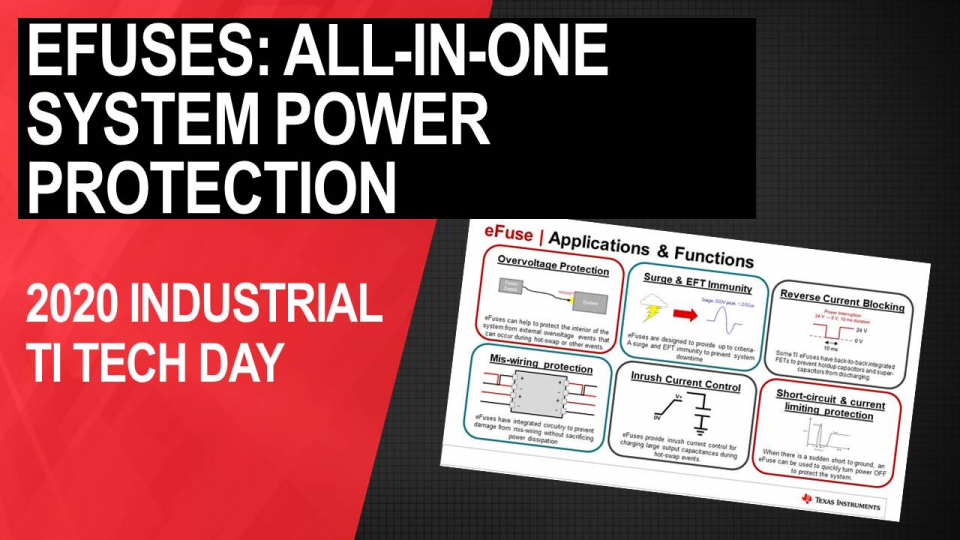 eFuses: All-in-one system power protection for industrial systems