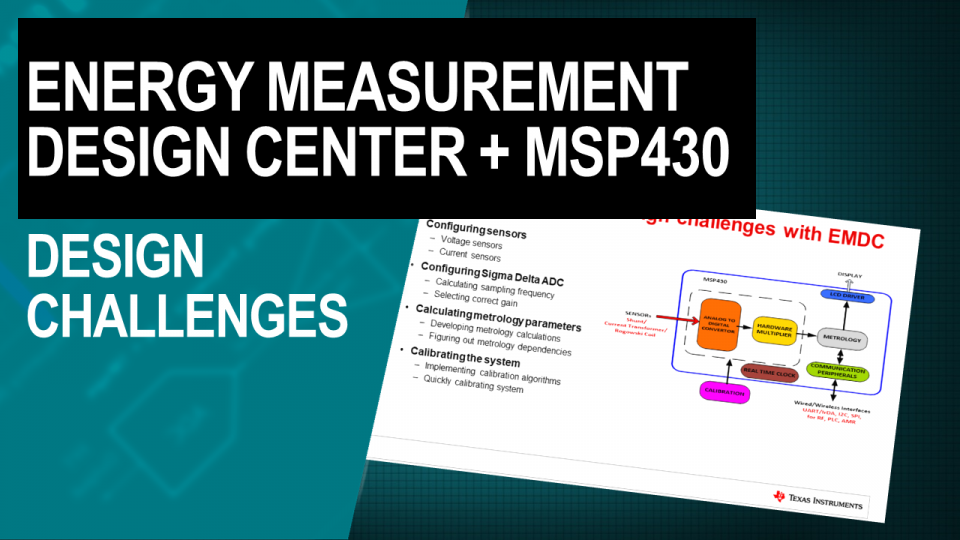 Solving common embedded metering design challenges with the Energy Measurement Design Center