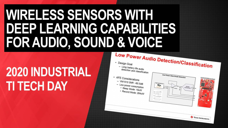 Enabling low-power Industrial wireless Sensors with deep learning capabilities for audio, sound and voice