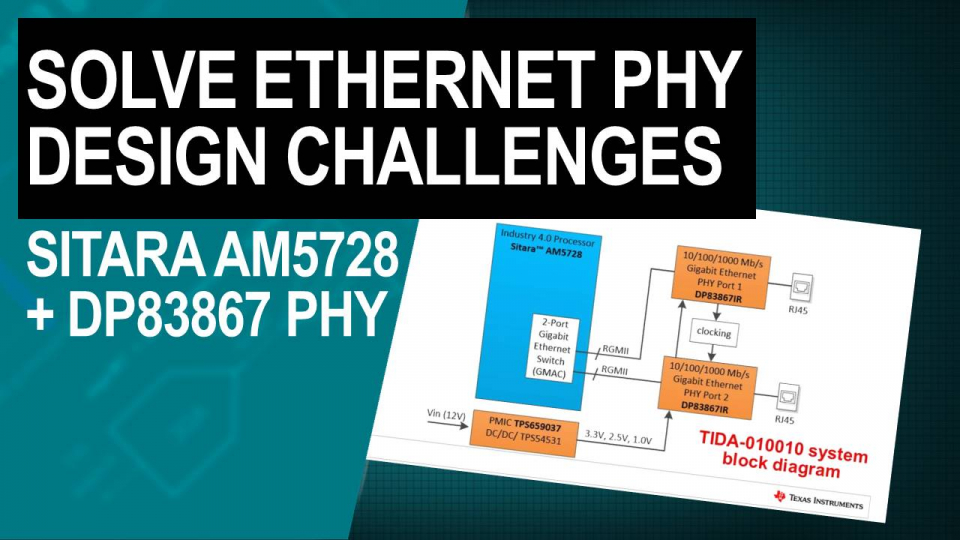 How to solve design challenges on interfacing Ethernet PHY with application processor or microcontrollers