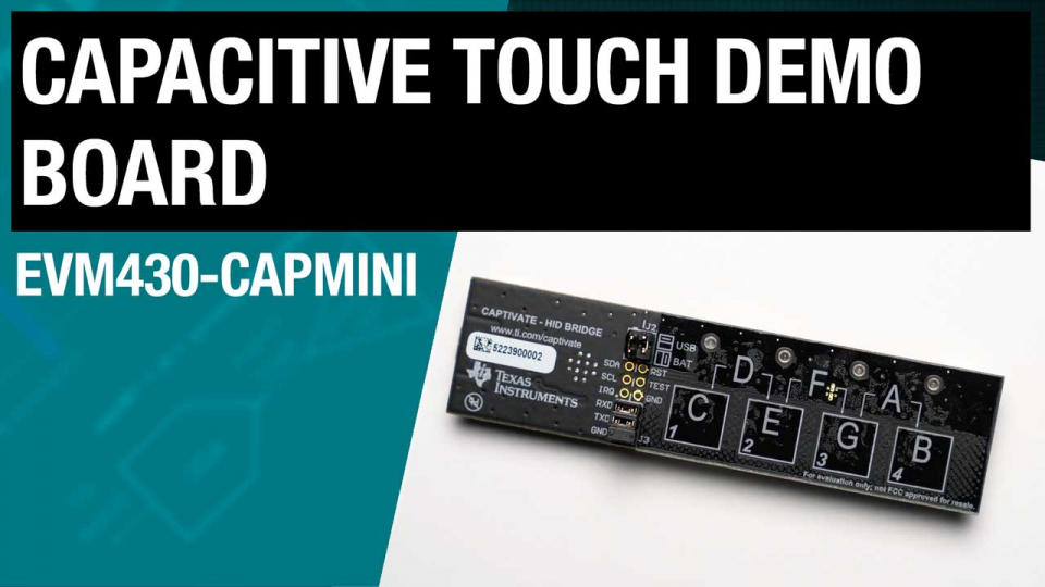 Capacitive touch demo board board tour