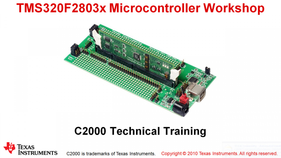 F2803x Microcontroller Workshop