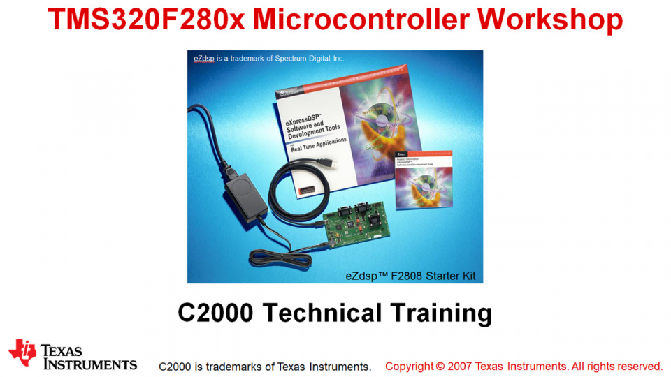 F280x Microcontroller Workshop