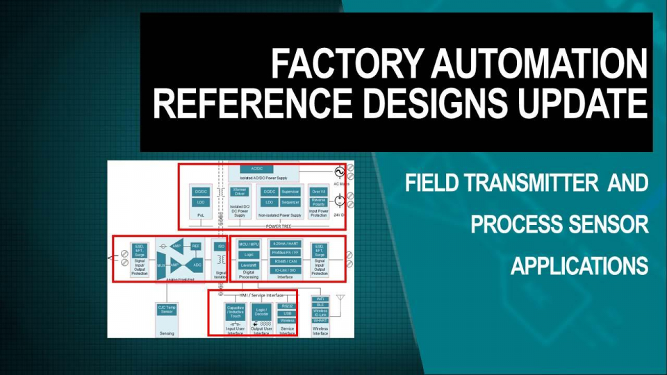 Field transmitter and process sensors reference designs for factory automation applications