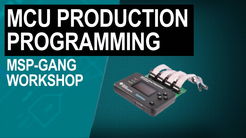 MSP-GANG production programmer training
