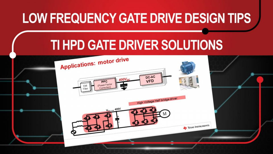 Gate Driver Low Frequency and DC Operation