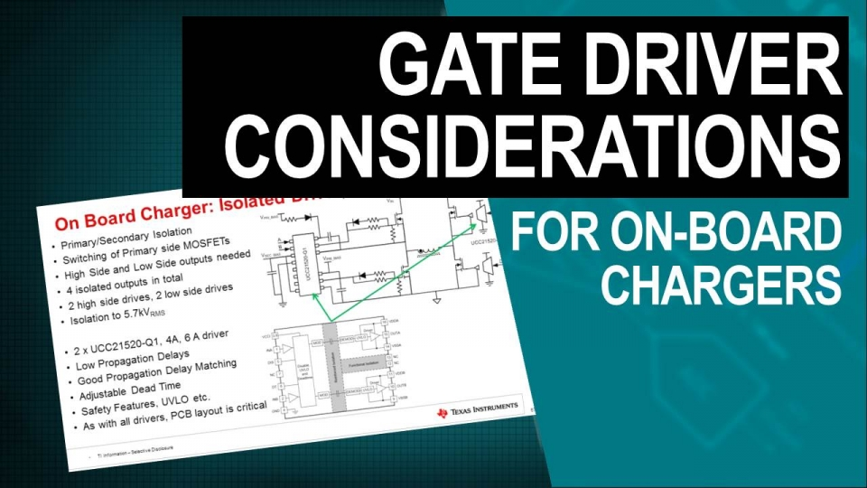 Gate driver design considerations in on-board chargers