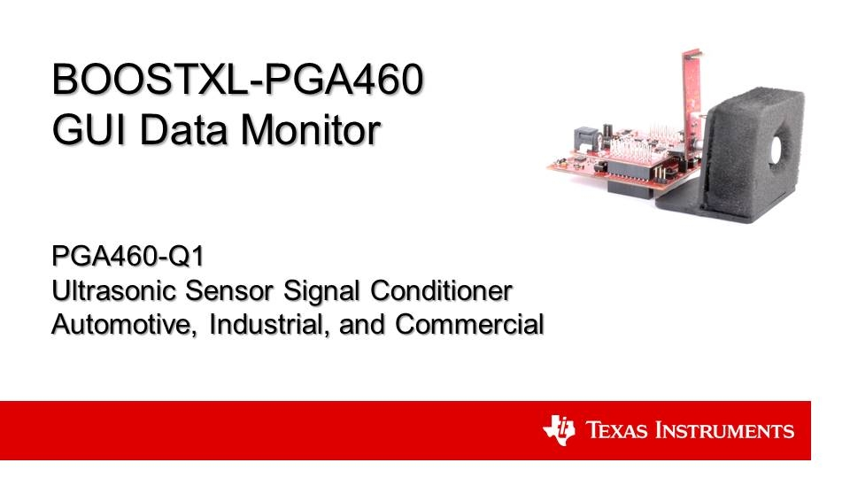 PGA460 ultrasonic sensing: EVM GUI data monitor