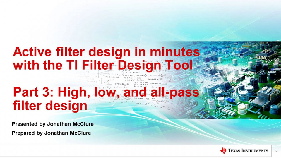 filter design tool training