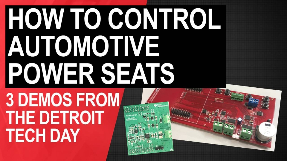3 ways to control automotive power seats