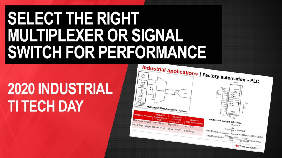 How to select the right multiplexer or signal switch to maximize system performance