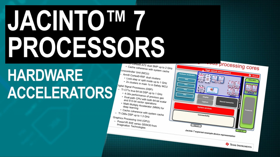Jacinto 7 processors: application-specific hardware accelerators