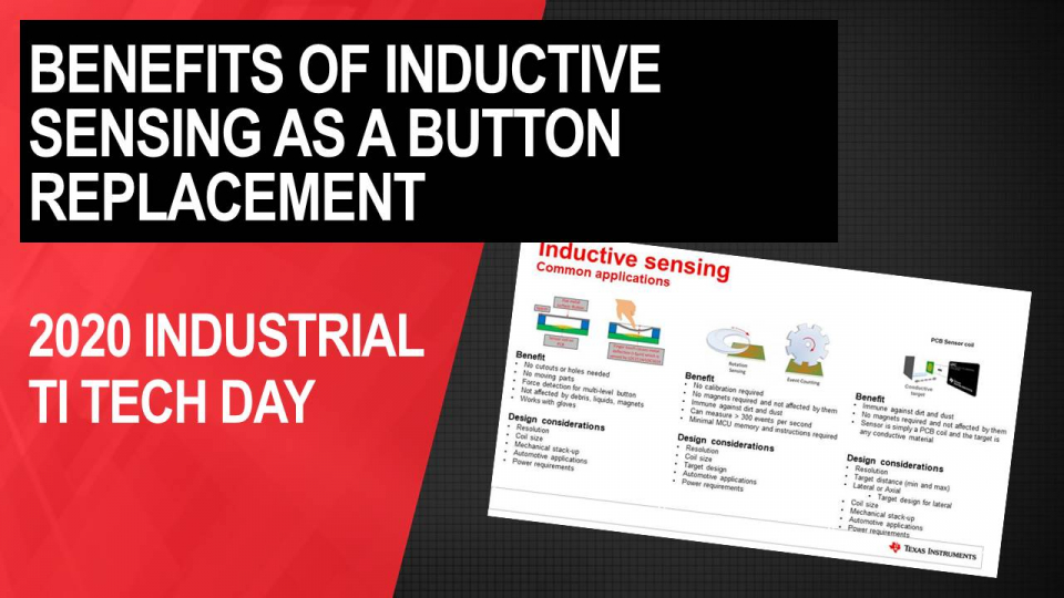 Introduction to inductive sensing technology: Benefits of inductive sensing as a button replacement