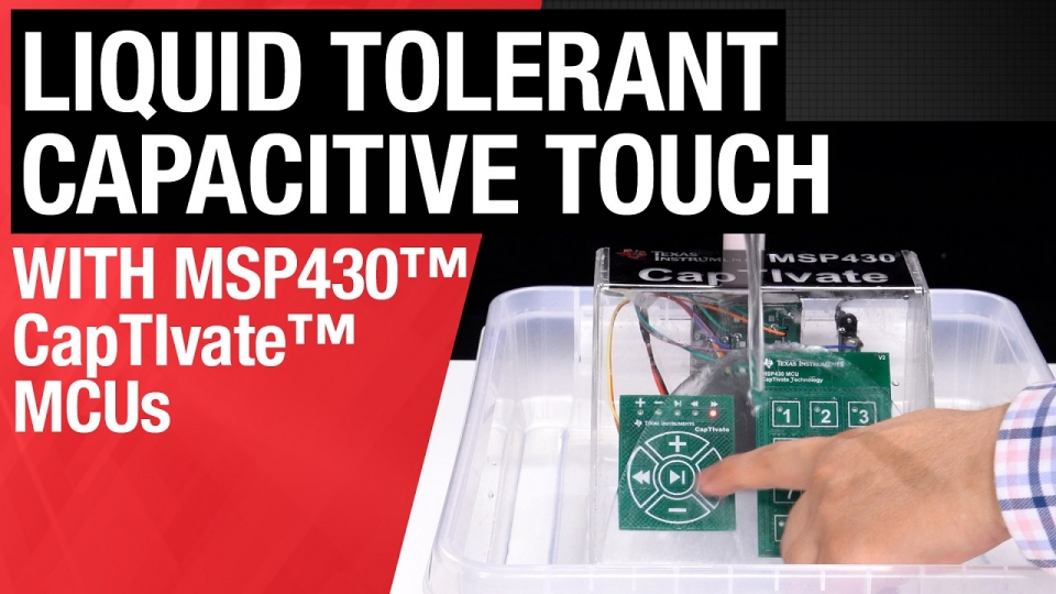 Liquid-tolerant capacitive touch human machine interfaces