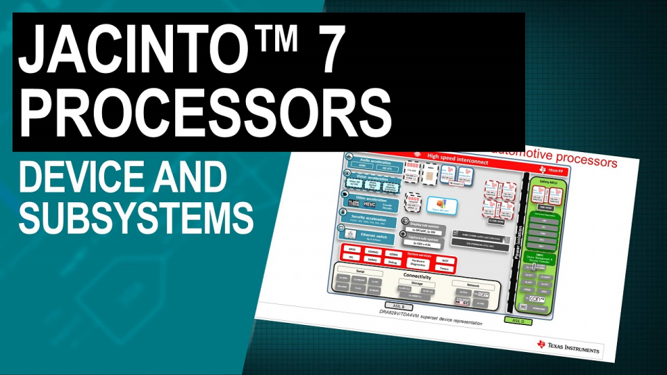 Jacinto 7 processors device and subsystems overview