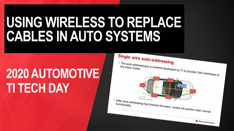 Using wireless technologies to replace cables in car access and battery management systems in automotive