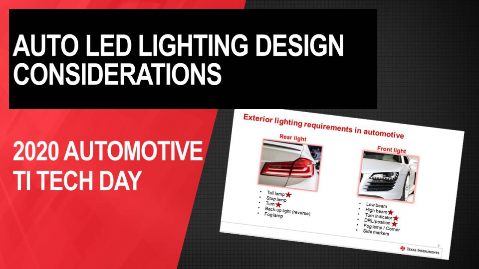 Automotive LED exterior lighting design considerations