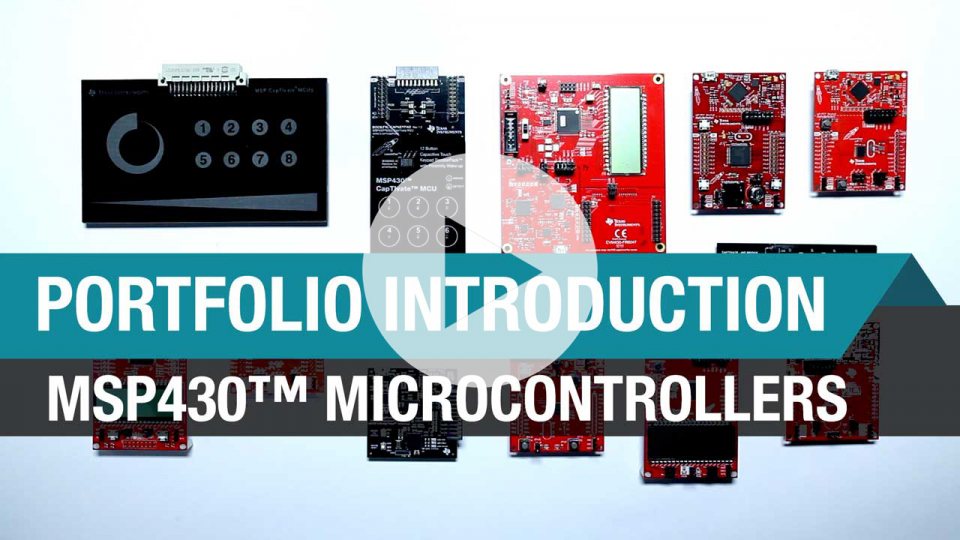 Introduction to MSP430 microcontrollers
