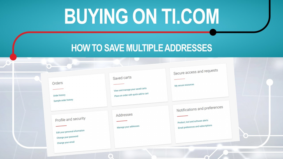 How to add multiple addresses