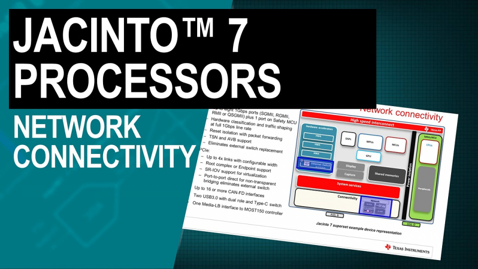 Jacinto 7 processors: network connectivity
