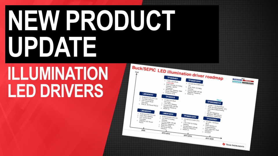 new product update illumination led drivers