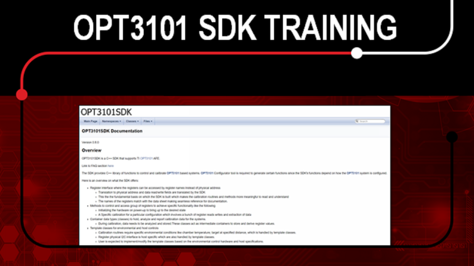 OPT3101 SDK Training