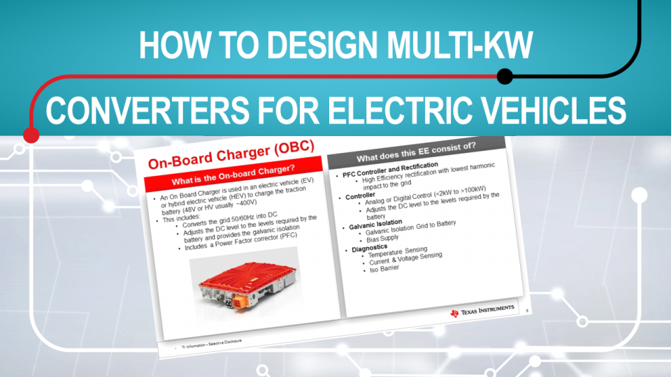 How to design multi-kW DC/DC Converters  for electric vehicles