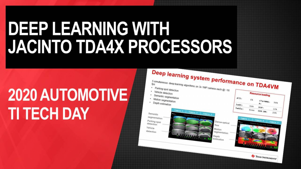 Deep learning with Jacinto TDA4x processors