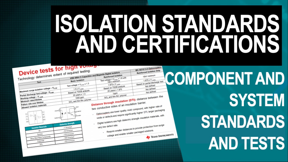 isolation standards and certifications